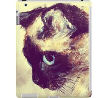 Siamese Cat Acrylic On Paper Painting Pet Portrait Home Decor iPad Case/Skin