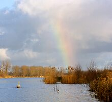 End of the Rainbow, Norfolk Broads, UK by Gary Rayner
