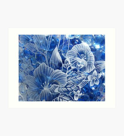 Engraved Glass Art Print