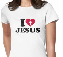 I love Jesus Womens Fitted T-Shirt