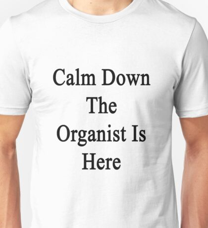 Calm Down The Organist Is Here  Unisex T-Shirt