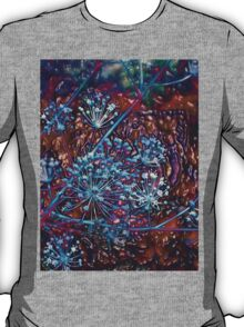 Blue Berries-Embossed-Available As Art Prints-Mugs,Cases,Duvets,T Shirts,Stickers,etc T-Shirt