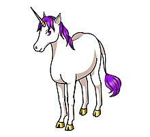Iten the Purple Unicorn Photographic Print