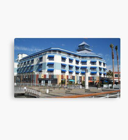 Blue hotel at Oakland  Canvas Print
