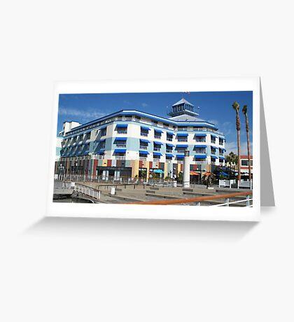 Blue hotel at Oakland  Greeting Card