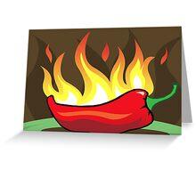 Flaming hot chilli Greeting Card