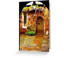 Mysterious Door Greeting Card