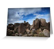 Mt Wellington Rock Scape Greeting Card