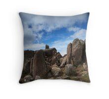 Mt Wellington Rock Scape Throw Pillow