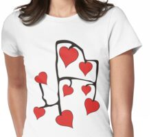 Hearts Womens Fitted T-Shirt
