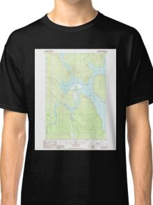 Maine USGS Historical Map Chesuncook 105025 1988 24000 Classic T-Shirt