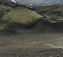 Land rover Defender in the Lakagigar - Iceland by Philippe Rikir