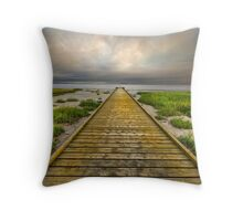 The Old Wood Jetty Throw Pillow