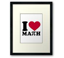 I love Math Pi Framed Print