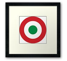Roundel of the Italian Air Force, 1911-1946 Framed Print