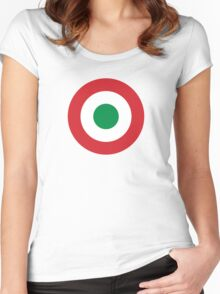 Roundel of the Italian Air Force, 1911-1946 Women's Fitted Scoop T-Shirt