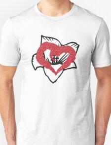 Heart over flower T-Shirt