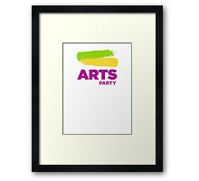 Official White - The Arts Party Framed Print