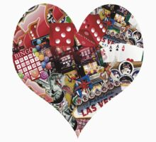 Heart - Las Vegas Playing Card Shape  Kids Clothes
