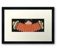 The Squeeze Box Player Framed Print