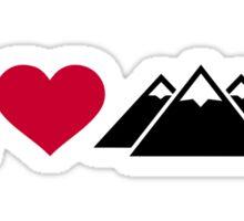 I love mountains Sticker