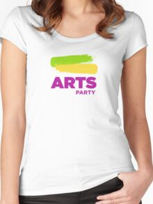 Official White - The Arts Party Women's Fitted Scoop T-Shirt