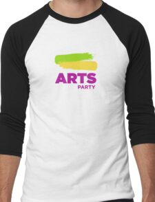 Official White - The Arts Party Men's Baseball ¾ T-Shirt
