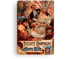 Biscuits Lefevre-Utile 2' by Alphonse Mucha (Reproduction). Canvas Print