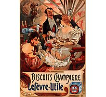 Biscuits Lefevre-Utile 2' by Alphonse Mucha (Reproduction). Photographic Print