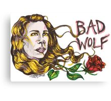 Bad Wolf - Sketch Style  Canvas Print