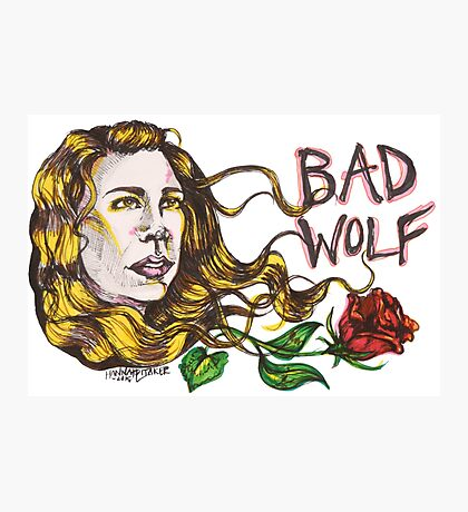 Bad Wolf - Sketch Style  Photographic Print