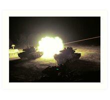 Tank Fire Art Print