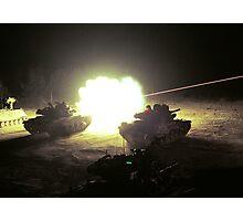 Tank Fire Photographic Print
