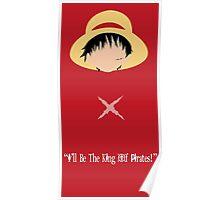 Minimalist Luffy Poster