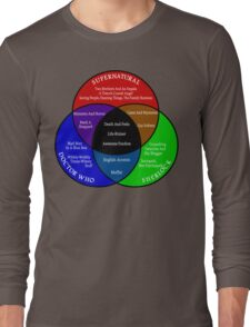 SuperWhoLock Venn Diagram Long Sleeve T-Shirt