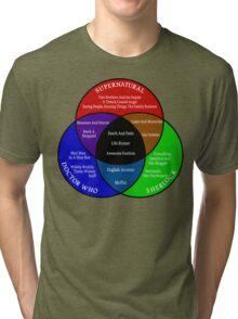 SuperWhoLock Venn Diagram Tri-blend T-Shirt