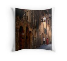 Night conversation in Tuscany Throw Pillow