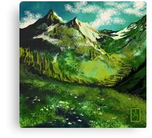 The Mountain of Fruit and Flowers Canvas Print