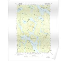 Maine USGS Historical Map Chesuncook 460320 1958 62500 Poster