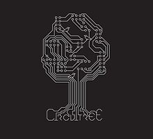Circuit Tree - Silver on Ashphalt by designinvan