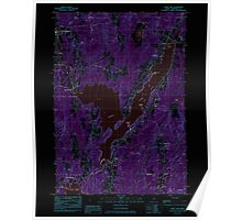 Maine USGS Historical Map China Lake 105026 1983 24000 Inversion Poster