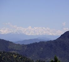 Scenic view of the valley by satya4u