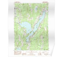 Maine USGS Historical Map China Lake 105026 1983 24000 Poster