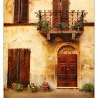 Tuscan door and balcony by jimfrombangor