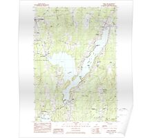 Maine USGS Historical Map China Lake 460321 1983 24000 Poster
