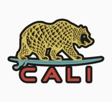 Cali Bear (Yellow with Black Border) Kids Clothes