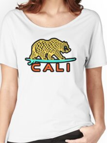 Cali Bear (Yellow with Black Border) Women's Relaxed Fit T-Shirt