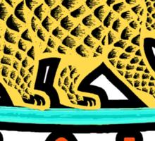 Cali Bear (Yellow with Black Border) Sticker