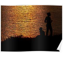 limnos - sunset couple Poster