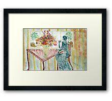 Tea at the Window Framed Print